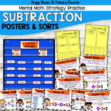 Subtraction Strategy Posters & Strategy Sorts - Karate Theme