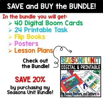 The Four Seasons Clip Task Cards - PreK and Kindergarten
