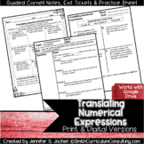 Translating Numerical Expressions Guided Cornell Notes | D