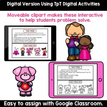 Valentine's Day Math Logic Puzzles - Higher Level Thinking Centers