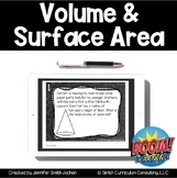Volume and Surface Area BOOM Cards Perfect for Distance Learning