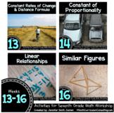 Week 13-16 of 7th Grade Math Workshop Activities   TEKS CC