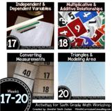 Week 17-20 of Sixth Grade Math Workshop Activities | TEKS