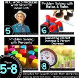Week 5-8 of Seventh Grade Math Workshop Activities