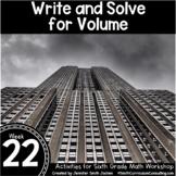 Write and Solve for Volume   6th Grade Math Workshop Activ