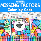 Multiplication Missing Factors | Color by Code | WINTER wo
