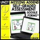 Missing Addends Math Self-Grading Assessments | Module 1 L