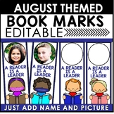 Book Marks AUGUST Themed Personalized | Back to School Book Marks