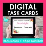 Realidades Auténtico 1 Para Empezar Spanish BOOM CARDS   Distance Learning