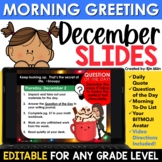 December Morning Message Slides Bitmoji | Writing Prompts
