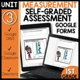 Math Self-Grading Assessments |Distance Learning| Measurement