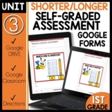 Math Self-Grading Assessments |Distance Learning|Shorter o