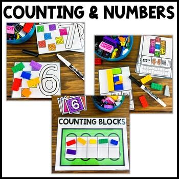 2D Shapes Building Block Mats