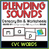 Blending CVC Words Worksheets and Sensory Bins
