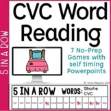 CVC Words Game: 5 in a Row   Short Vowels Games
