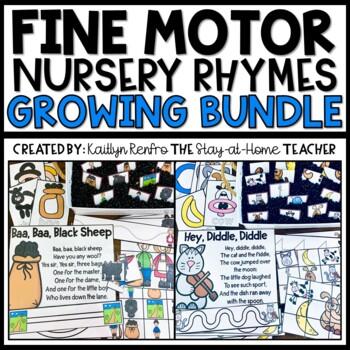 Nursery Rhymes Fine Motor Skills Activities BUNDLE