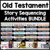 Old Testament Bible Story Sequencing Activities Bundle