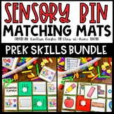 Preschool Skills Sensory Bin Matching Mats and Worksheets