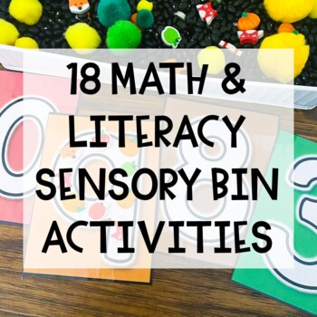 Fall Preschool Sensory Bin Activities