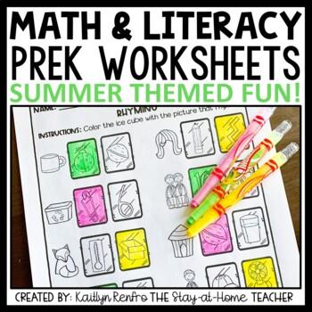 Summer Preschool Worksheets June