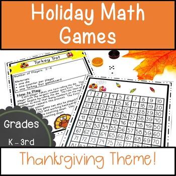 Thanksgiving Math Activities November Math Games Holiday Math Games