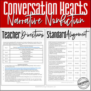 Valentine's Day Writing Activity | Narrative Nonfiction Valentine's Writing Unit