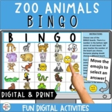 Zoo Animals Bingo | Super Fun Distance Learning | Video Co