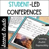 Student Led Conference Templates EDITABLE | 2nd Grade Parent Teacher Conferences