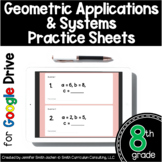 8th Grade Practice Sheets Geometric Applications & Systems
