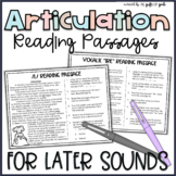 Articulation Stories and Reading Passages | Articulation I