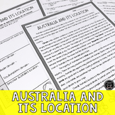 Australia and its Location Reading & Writing Activity (SS6G12, SS6G12a)