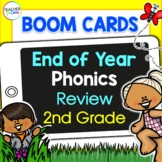 BOOM CARDS SUMMER PHONICS LONG VOWEL REVIEW BUNDLE for 2nd Grade