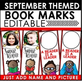 Book Marks September Themed Personalized | Back to School