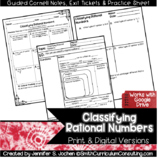 Classifying Rational Numbers Guided Cornell Notes | Distan