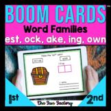 Digital | Word Families | est ock ake ing own BOOM CARDS™