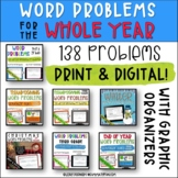 1/2 OFF! Digital and Print Word Problems || Bundled For th