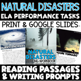 ELA Performance Task Writing Natural Disasters - Distance Learning