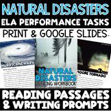 ELA Performance Task Writing Natural Disasters - Distance