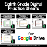 Eighth Grade Digital Practice Sheets Google Forms for Dist