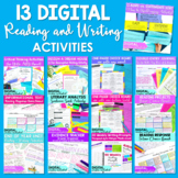 DIGITAL ELA Reading and Writing Activities for Middle Scho