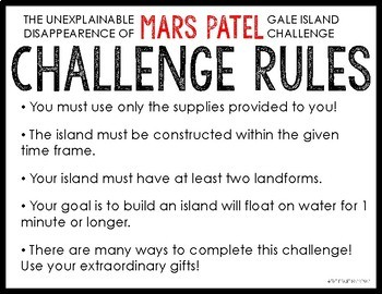 MARS PATEL Podcast Themed STEM Challenge: GALE ISLAND