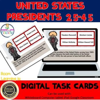 U.S. Presidents 25-45 Digital Boom Task Cards