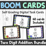 Two Digit Addition With and Without Regrouping | BOOM Cards