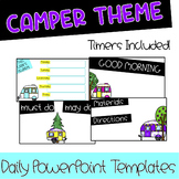 Happy Camper Daily Classroom Slides