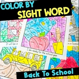 Color By Sight Word - Back to School