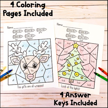 Color By Sight Word | Christmas