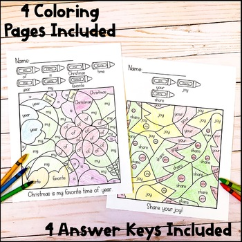 Color By Sight Word | Christmas Activities