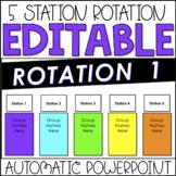 Editable Center Rotation Chart PowerPoint