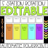 Editable Center Rotation PowerPoint Chart