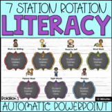 Literacy Station Automatic PowerPoint | 7 Stations